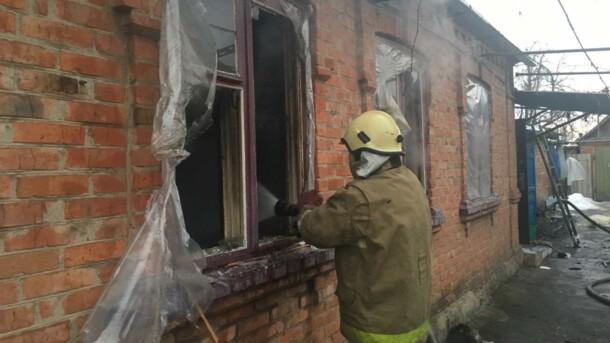 В Запорожской области почти два часа тушили масштабный пожар