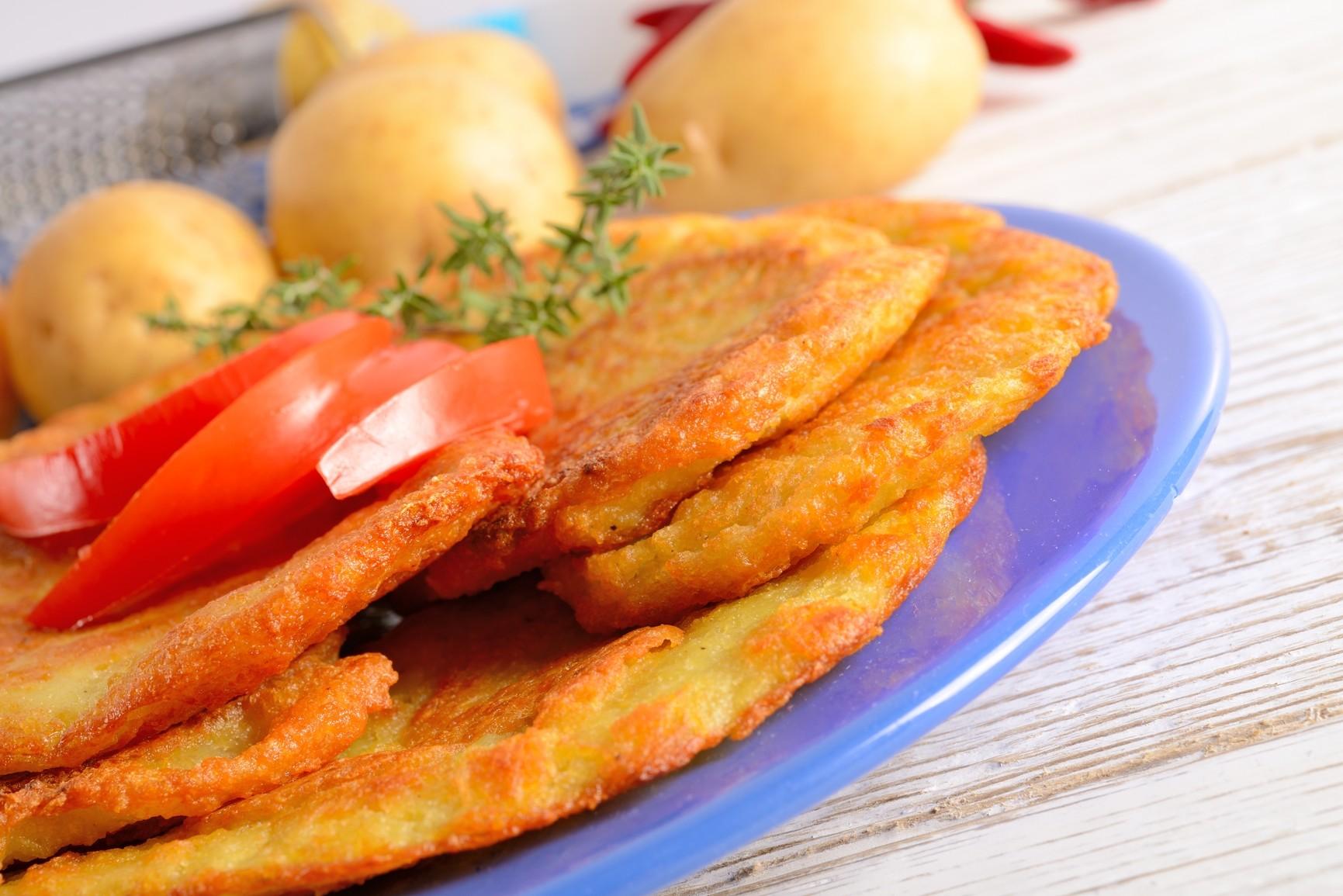 Картофельные драники с кабачками