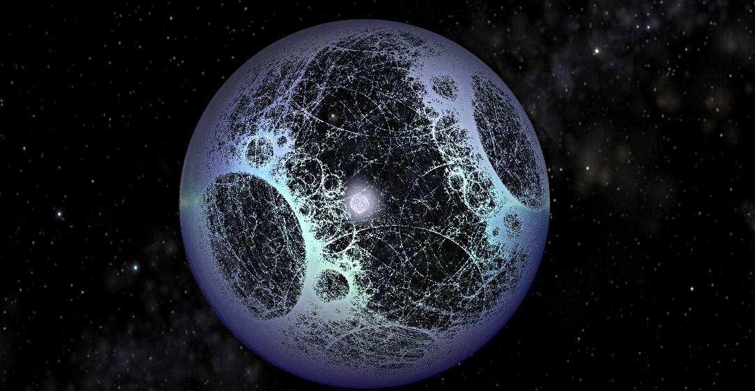 Звезда Табби окруженная сферой Дайсона в представлении художника