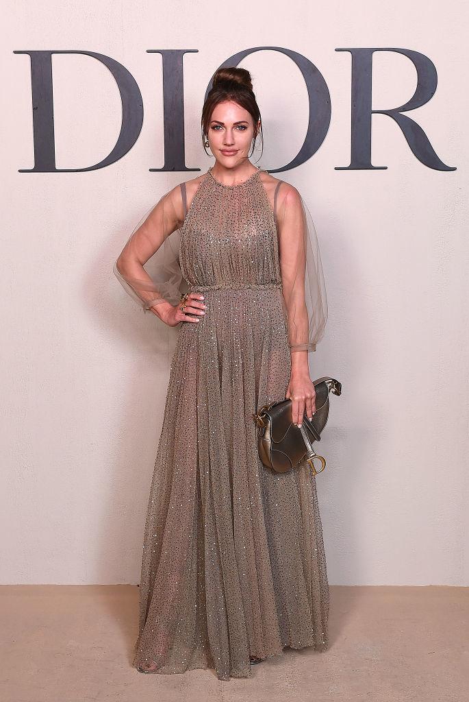 Мерьем Узерли на показе Dior