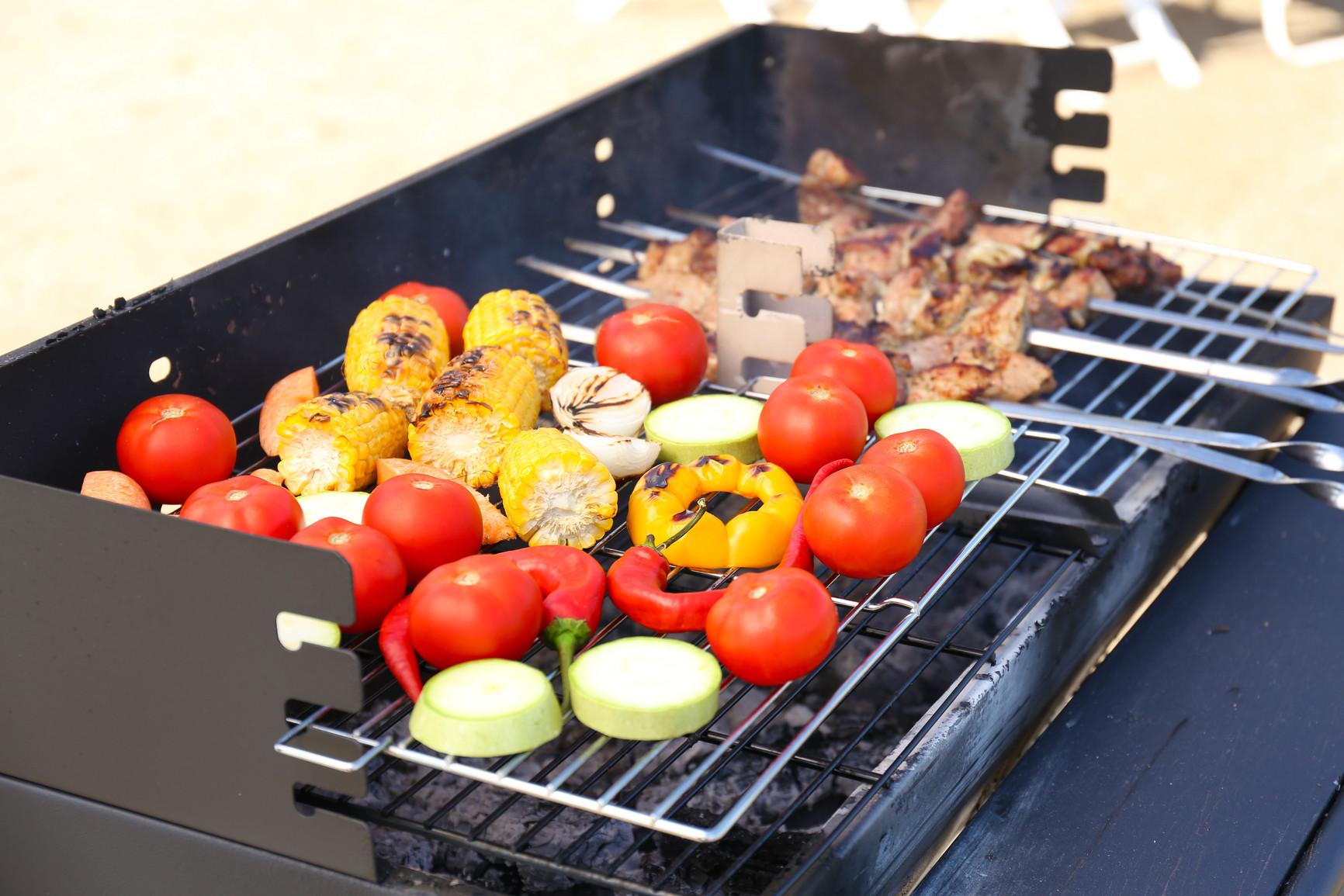 Запеченные овощи на костре