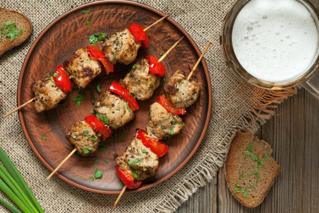 Шашлык из курицы с болгарским перцем