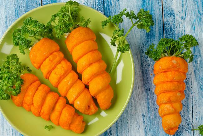 Морковные трубочки на Пасху