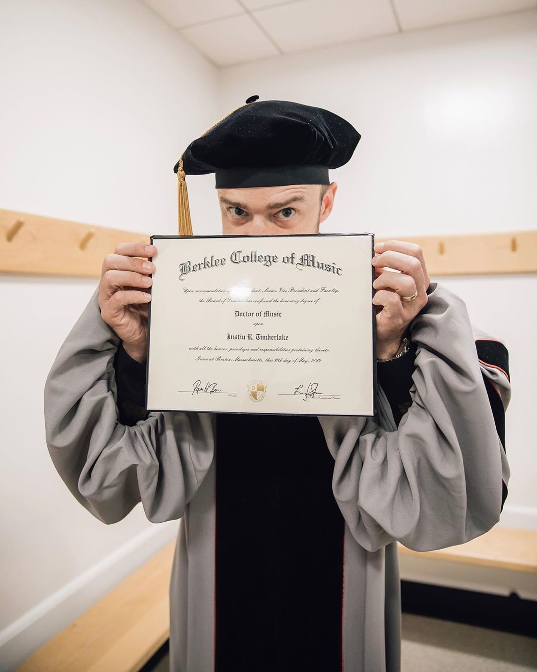 Джастин Тимберлейк получил докторскую степень по музыке