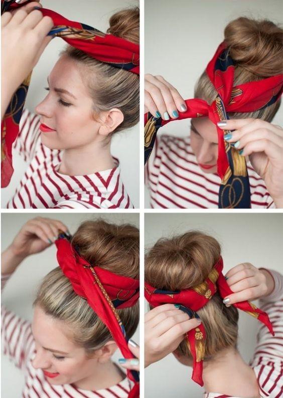 Как стильно завязать платок на голове: пошаговая инструкция