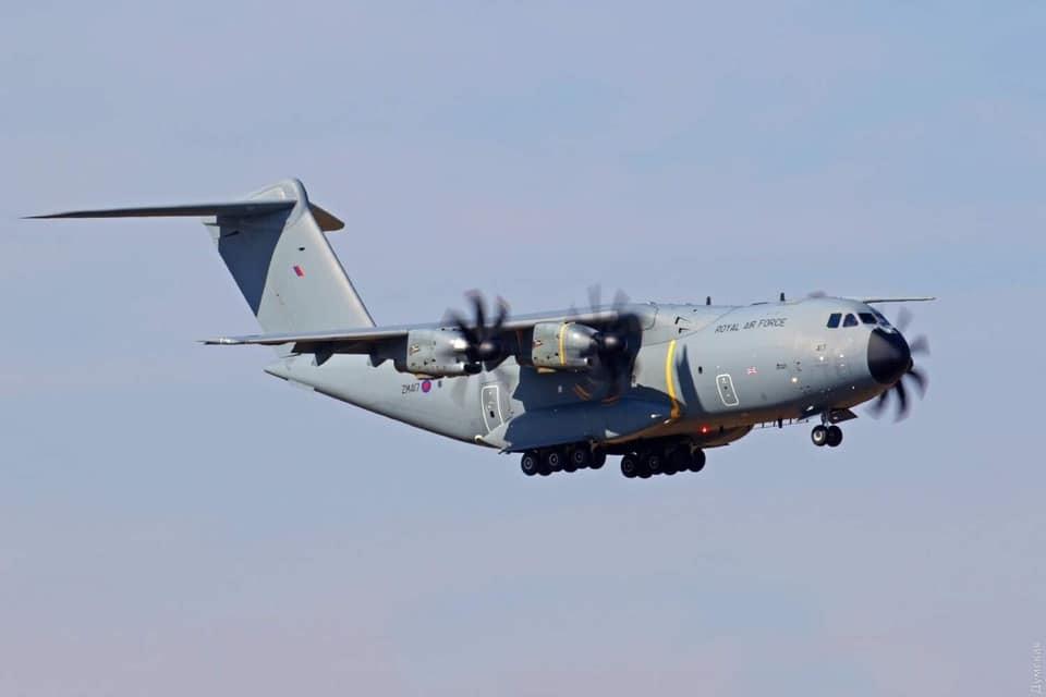 Самолет Королевских ВВС Великобритании A400 Atlas. Фото: Минобороны Украины