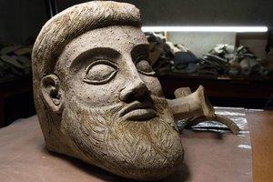 En forntida artefakt som hittats av arkeologer i Kertj Bay
