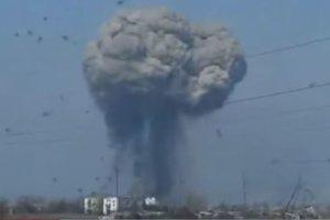 Появилось видео мощнейшего взрыва в Балаклее