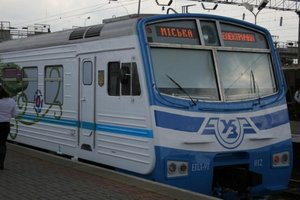 In Kiev city train goes to summer schedule