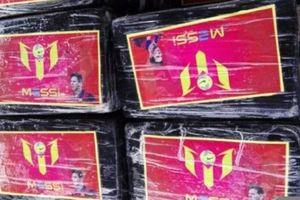 В Перу наркотики перевозили в коробках с изображением Лионеля Месси