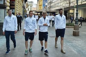 Сборная Украины прогулялась по Загребу