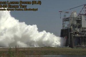 Как проходят испытания двигателя сверхтяжелой ракеты: видео NASA