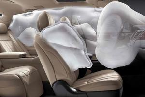 Ford invented the airbag on the ceiling