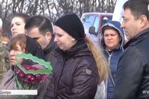 In the river bade farewell to marine killed near Mariupol