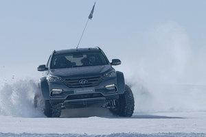 Hyundai Santa Fe wurde der erste PERSONENKRAFTWAGEN, пересекшей Antarktis