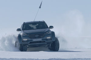 Hyundai Santa Fe est devenu le premier legkovushkoy, пересекшей Antarctique