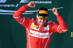 Sebastian Vettel won the first race of the season in Formula 1