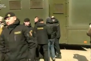 Появилось видео разгона силовиками протестующих в Минске