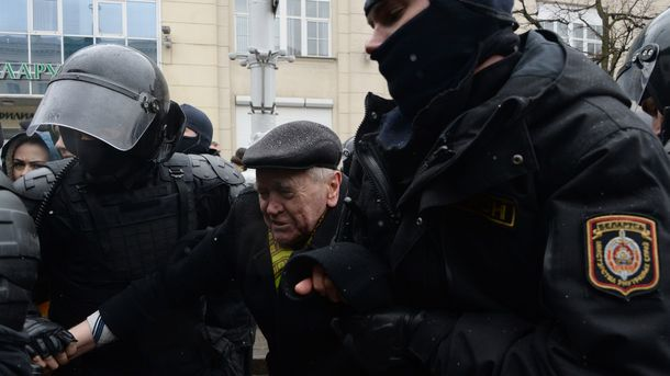 ВМинске арестован житель Украины заучастие вдемонстрациях
