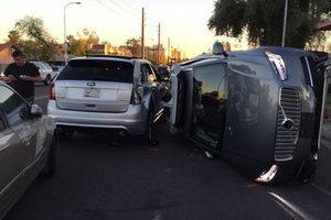 Die Drohne Uber in einen Unfall und überschlug sich