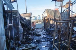 Масштабный пожар произошел на рынке в Черниговской области