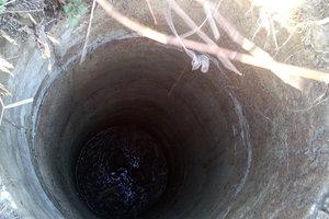 I Poltava regionen mannen dog på botten av brunnen