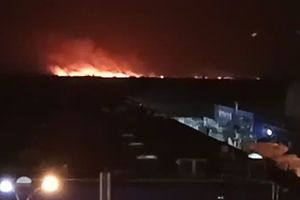 There is a new video large-scale fire in Poznyaki in Kiev