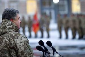 Порошенко приказал не стрелять на Донбассе с 1 апреля