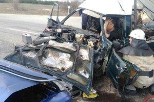 Лобовое столкновение в Херсонской области: авто превратились в груду металла