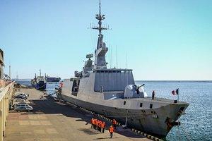 В Одессе пришвартовался французский военный фрегат