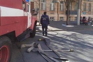 В центре Одессы горит жилой дом