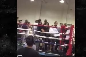 Боксерский турнир в Лос-Анджелесе завершился массовой дракой