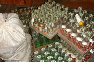 На Прикарпатье изъяли крупную партию фальсифицированного алкоголя