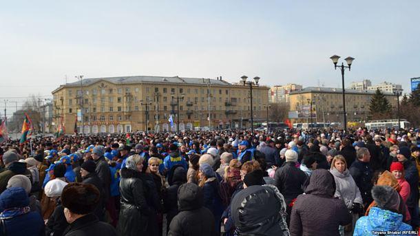 В РФ митингуют против терроризма: в столице задержали 6 человек