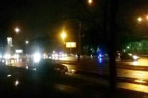 В Киеве на проспекте Победы произошло масштабное ДТП