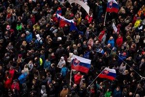 В Братиславе тысячи людей вышли на митинг против коррупции в стране