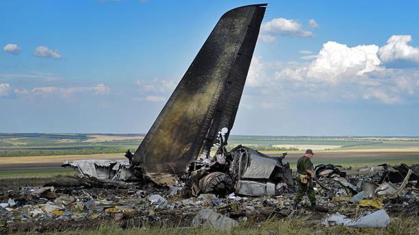 Ил-76 с украинскими военными был сбит над Луганском. Фото: AFP