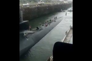 Идущая к КНДР американская ядерная подлодка попала на видео