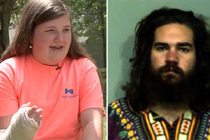 """В США 12-летняя девочка остановила угонщика с помощью """"автомата"""""""