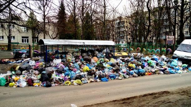"""Мусорный """"пейзаж"""" стал привычным для Львова. Фото: соцсети"""