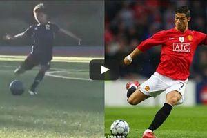 Шестилетний сын Криштиану Роналду забил красивый гол со штрафного