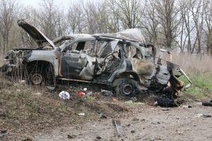 Опубликовано фото автомобиля миссии ОБСЕ, пострадавшего от подрыва