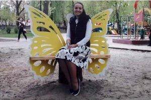 В киевском парке установили лавочки с крыльями