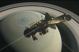 В Сети появилось видео реконструкции полета Cassini на Сатурн
