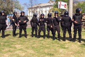 В Одессе снова произошел конфликт на Куликовом поле