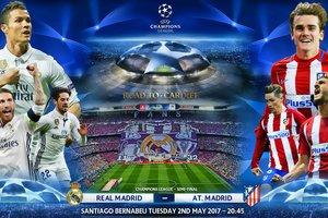 """Онлайн матча """"Реал"""" - """"Атлетико"""" 2 мая в полуфинале Лиги чемпионов: Роналду открывает счет"""