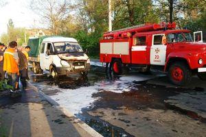 В Одесской области на ходу загорелся грузовик