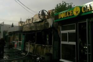 В Киеве молодой мужчина пострадал во время пожара в киоске