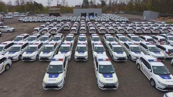 В государство Украину прибыла партия гибридных Митсубиши для милиции