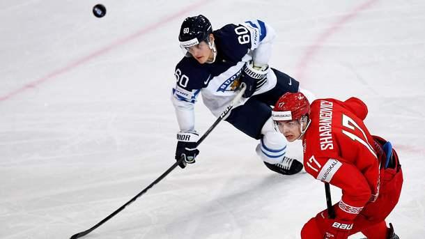 Сборная Финляндии похоккею обыграла команду республики Белоруссии начемпионате мира